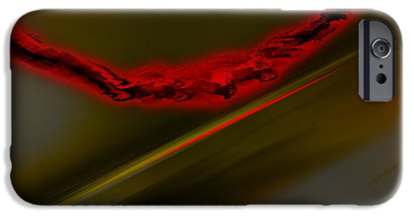 Inverted Drawings iPhone Cases - Negative Dusk  iPhone Case by Paul Davenport