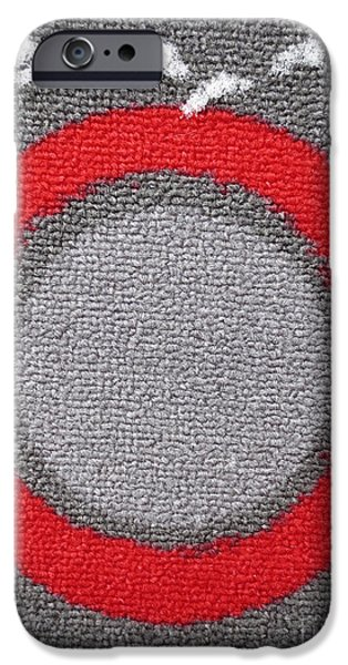 Abstract Digital Tapestries - Textiles iPhone Cases - Cible / Target iPhone Case by Dominique Fortier