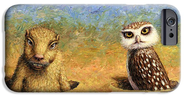 Prairie iPhone Cases - Neighbors iPhone Case by James W Johnson
