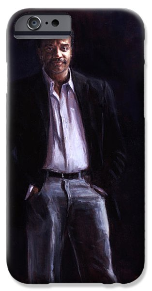 Smithsonian Paintings iPhone Cases - Neil DeGrasse Tyson iPhone Case by Sarah Yuster