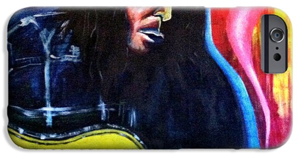 Neil Young Paintings iPhone Cases - Neil iPhone Case by Tony Lazzari