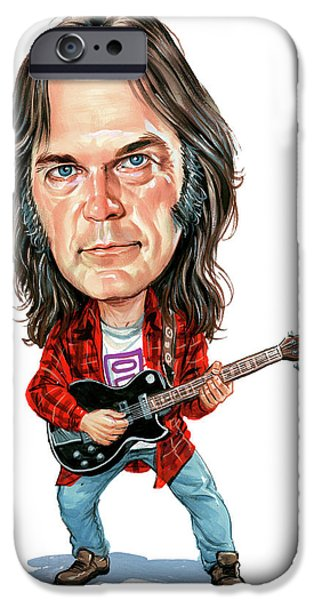 Art iPhone Cases - Neil Young iPhone Case by Art