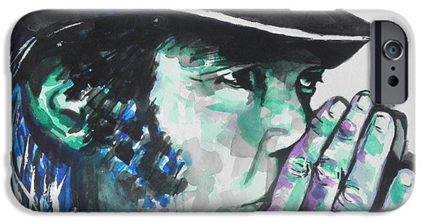 Young Paintings iPhone Cases - Neil Young iPhone Case by Chrisann Ellis