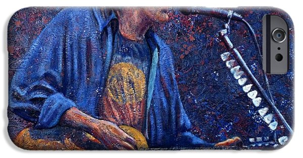 Neil Young Paintings iPhone Cases - Neil Young iPhone Case by John Cruse Knotts