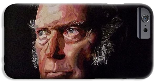 Neil Young Paintings iPhone Cases - Neil Young OLD MAN iPhone Case by Gordon Irving