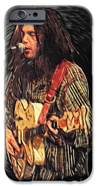 Elton John iPhone Cases - Neil Young iPhone Case by Taylan Soyturk