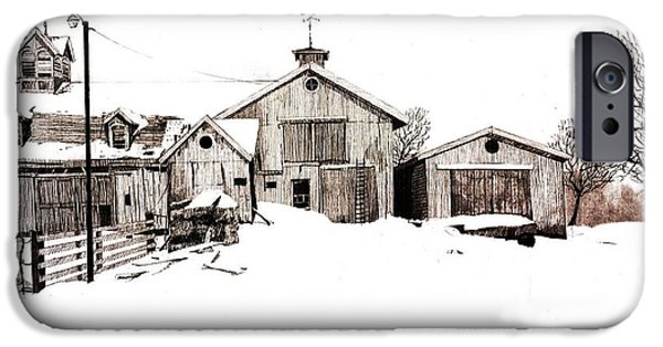 Old Barns iPhone Cases - Nelson Barn iPhone Case by Craig Nelson