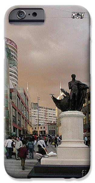 Mounds Mixed Media iPhone Cases - Nelson Birmingham Bull Ring iPhone Case by Neil Finnemore