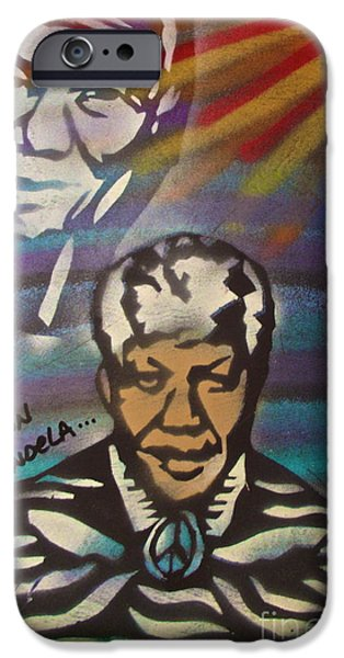 Obama Family iPhone Cases - Nelson Mandela Art  iPhone Case by Tony B Conscious