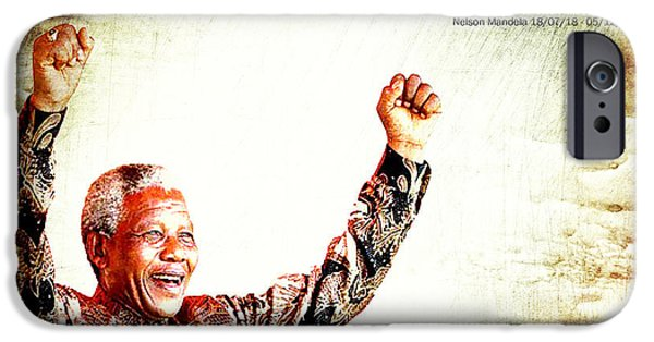 Recently Sold -  - President iPhone Cases - Nelson Mandela iPhone Case by Karen Lawrence  SMPhotography