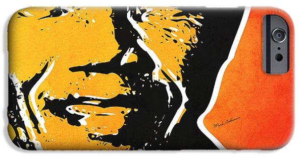 Animation iPhone Cases - Nelson Mandela iPhone Case by Mark Ashkenazi