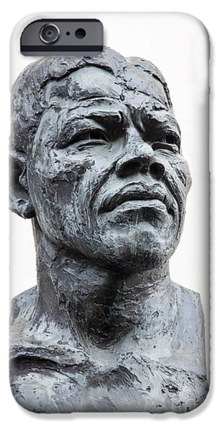 Politician iPhone Cases - Nelson Mandela statue iPhone Case by Jane Rix