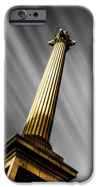 Admiral iPhone Cases - Nelsons Column London iPhone Case by Ian Hufton