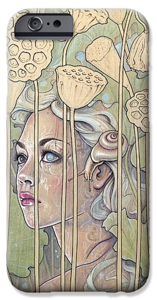 Fay iPhone Cases - Nelumbo iPhone Case by Fay Helfer