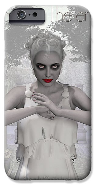 Intolerance iPhone Cases - Nemesis - Envy iPhone Case by Joaquin Abella