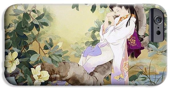 Culture iPhone Cases - Nemuri No Otome iPhone Case by Haruyo Morita