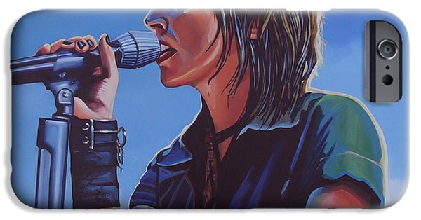 Punk Rock iPhone Cases - Nena iPhone Case by Paul  Meijering
