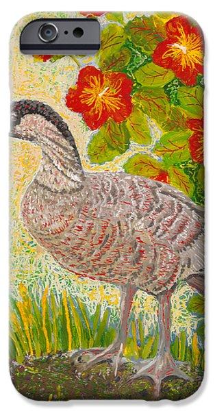 Fauna Glass Art iPhone Cases - Nene iPhone Case by Anna Skaradzinska