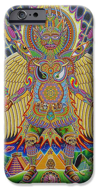 Visionary Paintings iPhone Cases - Neo Human Evolution iPhone Case by Chris Dyer