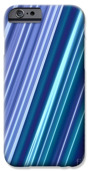 Neon iPhone Cases - Neon Abstract iPhone Case by John Edwards