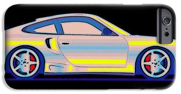 Break Fast iPhone Cases - Neon Carrera Dream iPhone Case by Florian Rodarte