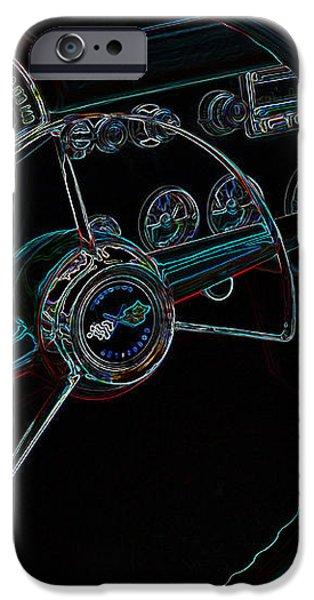 Neon Corvette Dash iPhone Case by Steve McKinzie