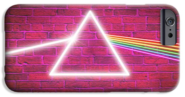 Dark Pink iPhone Cases - Neon Floyd iPhone Case by Cristophers Dream Artistry