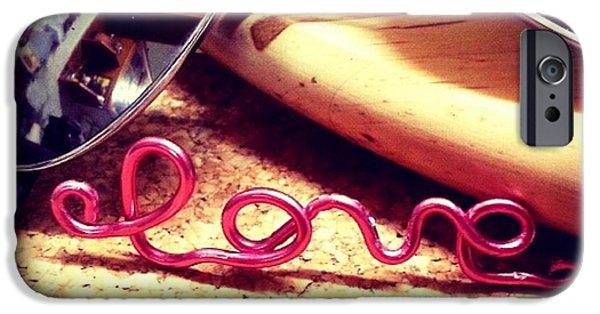 Summer Jewelry iPhone Cases - Neon Love iPhone Case by Theano Exadaktylou