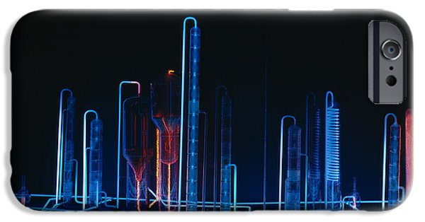 Power Industry iPhone Cases - Neon Refinery Exhibit iPhone Case by Mountain Dreams