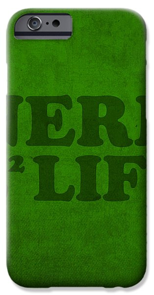 Nerd iPhone Cases - Nerd 4 Life Math Formula Humor Poster iPhone Case by Design Turnpike