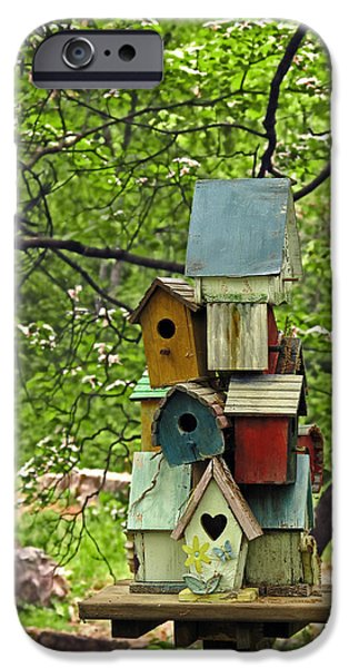 Birdhouse iPhone Cases - Nesting iPhone Case by Don Spenner