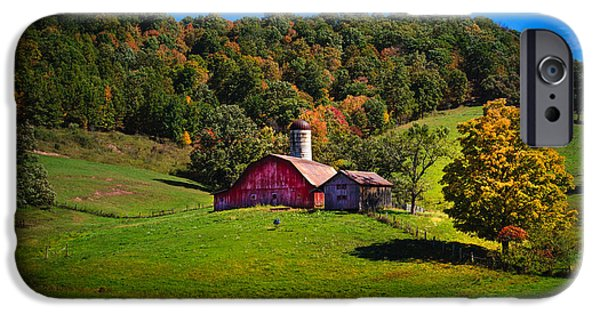 Farm iPhone Cases - nestled in the hills of West Virginia iPhone Case by Shane Holsclaw