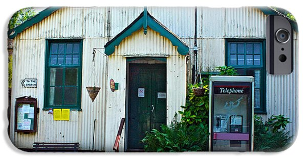 Cabin Window iPhone Cases - Nether Wallop Post Office and Village Hall iPhone Case by Terri  Waters