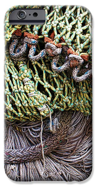 nets and knots number three iPhone Case by Elena Nosyreva