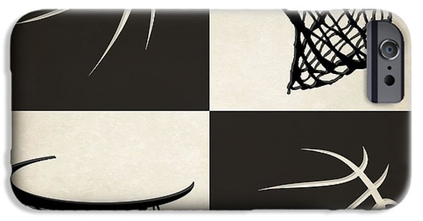 Dunk iPhone Cases - Nets Ball And Hoop iPhone Case by Joe Hamilton