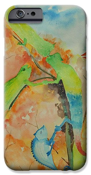 Concept Paintings iPhone Cases - Networking iPhone Case by Geeta Biswas