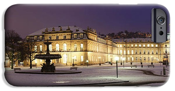 Facade iPhone Cases - Neues Schloss Palace And Kunstverein iPhone Case by Panoramic Images