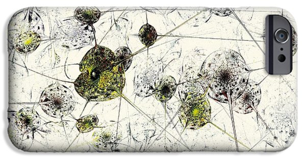 Wall Mixed Media iPhone Cases - Neural Network iPhone Case by Anastasiya Malakhova