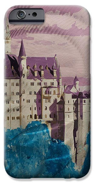 Neuschwanstein Castle  iPhone Case by Metal Art Studio