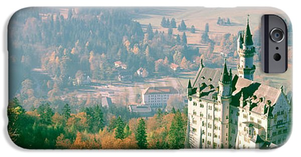 19th Century iPhone Cases - Neuschwanstein Castle Schwangau Bavaria iPhone Case by Panoramic Images