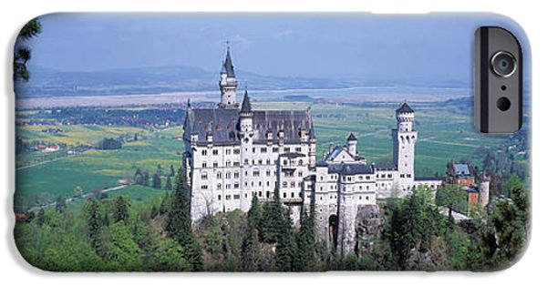 Mountain iPhone Cases - Neuschwanstein Palace Bavaria Germany iPhone Case by Panoramic Images