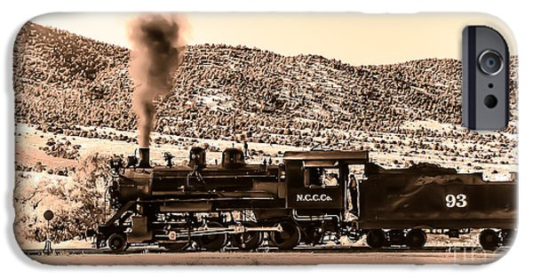 Recently Sold -  - Haybale iPhone Cases - Nevada Northern Railway iPhone Case by Robert Bales
