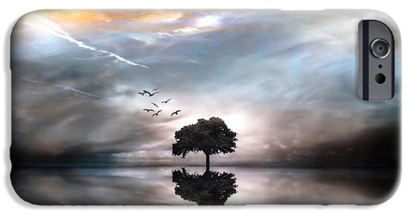 Waterscape Mixed Media iPhone Cases - Never Alone iPhone Case by Photodream Art