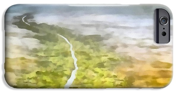 Pathway Mixed Media iPhone Cases - Never Ending Journey iPhone Case by Dan Sproul