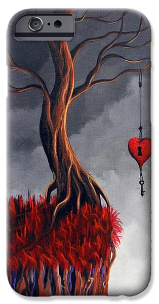 Surreal Landscape iPhone Cases - Never Letting Go iPhone Case by Shawna Erback