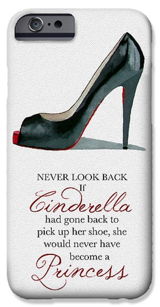 Black Shoes iPhone Cases - Never Look Back iPhone Case by Rebecca Jenkins