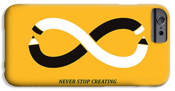 Creativity iPhone Cases - Never Stop Creating iPhone Case by Budi Kwan
