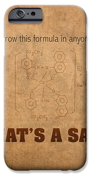 Science Mixed Media iPhone Cases - Never Throw This Formula in Anyones Face Thats a Salt Humor Poster iPhone Case by Design Turnpike