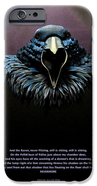 Paper Sculptures iPhone Cases - Nevermore iPhone Case by John Hebb