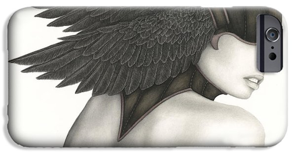 Symbolism iPhone Cases - Nevermore iPhone Case by Pat Erickson